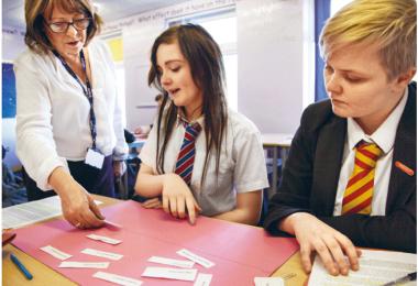 Et klasseværelse i England